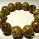 Amber bracelet Natural baltic amber pressed round beads elastic 35.70 gr B-8
