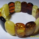 Amber bracelet multi colour Genuine Baltic Amber  Bracelet 29.56 gr. A-58