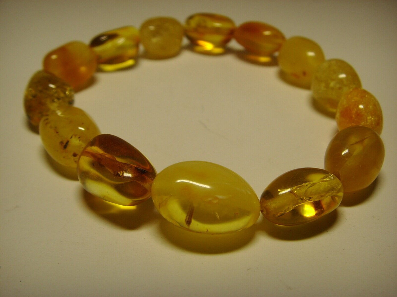 Genuine Baltic Amber elastic Bracelet 8.55gr. A-175