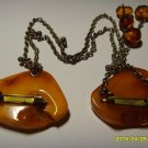 Authentic Vintage Butterschot Genuine Baltic Amber Brooch 22.56gr. A-38