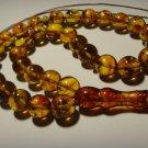 Islamic 33 Prayer beads Genuine Baltic pressed  Amber Tasbih  26,78gr B-484