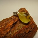Natural  Genuine Baltic Amber silver Pendant  1.47gr. A-729