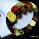 Exclusive Colour Mix Genuine Baltic Amber Stretch Bracelet 28.58 gr. A-143