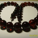 Amber Pressed Round Beads Genuine Baltic necklace 69,69gr