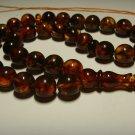Rosary AMBER pressed Islamic 33 Prayer Round  Genuine Baltic Amber 26,80gr B-636