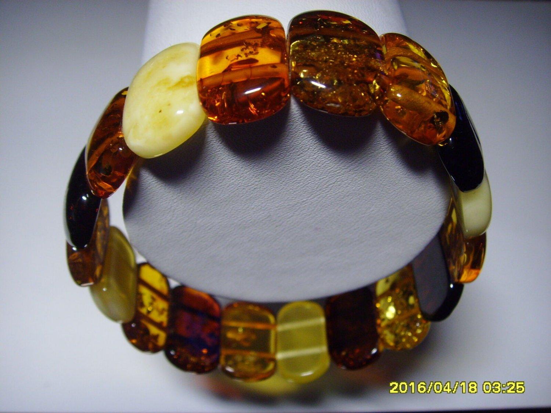 Exclusive Genuine Mix colour Baltic Amber Bracelet 16.25 gr. A-177