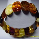 Exclusive Genuine Mix colour Baltic Amber Bracelet 16.25 gr. A-177