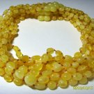 Lot 10 Necklace Natural Baltic Amber butter knotted beads For Kids 41.04gr. F-70