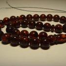 Genuine Baltic AMBER pressed Islamic 33 Prayer beads Tasbih  27,38gr B753