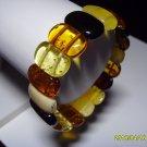 Exclusive Genuine mix colour Baltic Amber Bracelet 17.06gr. A-200