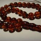 Genuine baltic Pressed Amber Islamic 33 Prayer Beads Tasbih   27,02gr B-486