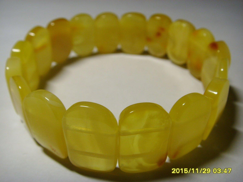 Butter Natural  Genuine Baltic Amber Bracelet 14.57 gr. A-123
