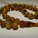 Natural Balic AMBER pressed Islamic 33 Prayer beads Tasbih Misbaha 27,24gr B-548