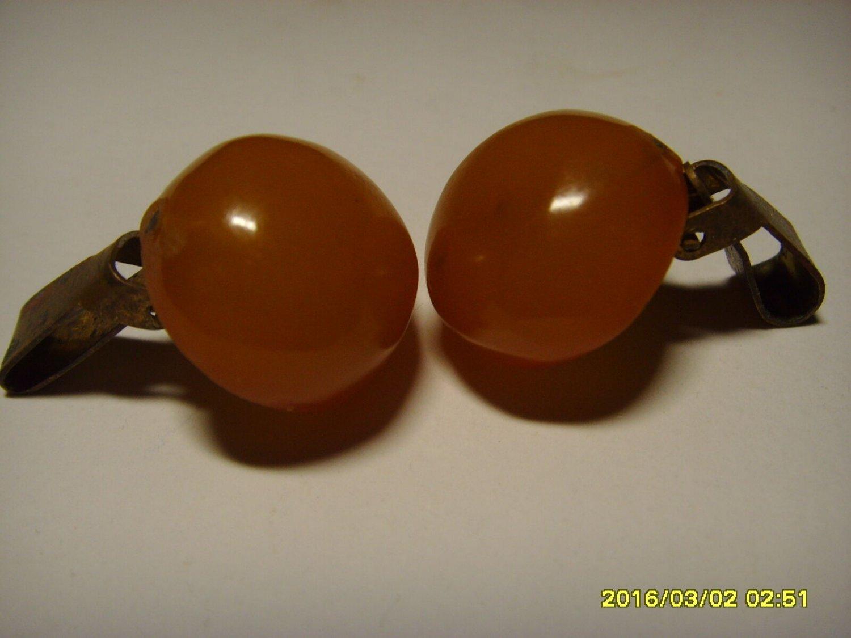 Authentic BUTTERSCOTCH Vintage Genuine Baltic Amber Cufflink 5.19 gr. A-349