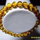 Cognac Genuine Baltic Amber elastic Bracelet for women for men 5.59gr. A-501