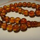Rosary AMBER pressed Islamic 33 Prayer Round  Genuine Baltic Amber 26,04gr B-618