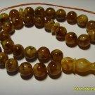 Islamic 33 Prayer beads Natural Baltic Pressed Amber Tasbih Misbaha 36,06grB-220