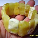 Exclusive White Butter Genuine Baltic Amber stretch Bracelet 42.43 gr. A-81