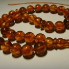 AMBER pressed Islamic 33 Prayer beads Genuine Baltic Amber Tasbih 26,76gr B-579