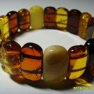 Exclusive Genuine mix colour Baltic Amber Bracelet 19.55gr A-151