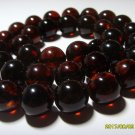 Natural Genuine Baltic Amber pressed round beads  necklace 46,91gr.
