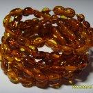 Lot 10 wholesale Baby Cognac  Genuine Baltic Amber Bracelets 18.43gr. C-11