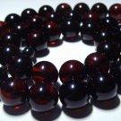 Massive Amber Necklace Genuine Baltic Amber pressed dark cherry beads  48.09gr