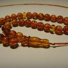 Islamic 33 Prayer beads Genuine Baltic pressed Amber Tasbih  15.49gr B-818