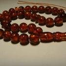 Rosary AMBER pressed Islamic 33 Prayer Round  Genuine Baltic Amber 27,60gr B-593