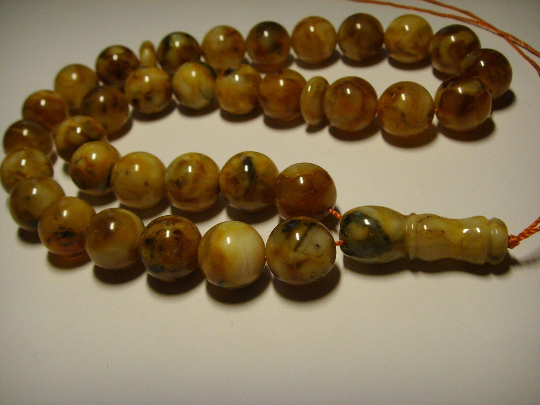 Islamic 33 Prayer beads Genuine Baltic pressed Amber Tasbih  34,76gr B-645