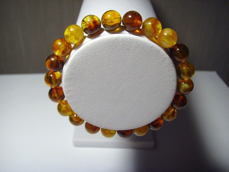 Genuine Baltic Pressed Amber for men for women elastic Bracelet 6,36 gr B-567