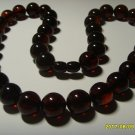 Amber Pressed 13mm Round Beads Genuine Baltic necklace 46,91gr