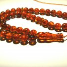 Islamic 45 Prayer beads Natural baltic Amber pressed beads Tasbih  48.59gr B106