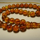 Natural baltic AMBER pressed Islamic 33 Prayer beads Tasbih Misbaha  20,85grB716