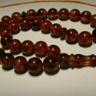 Genuine Baltic pressed Amber Islamic 33 Prayer Beads Tasbih Misbaha 26,11grB-606