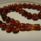 Genuine Baltic AMBER pressed Islamic 33 Prayer beads Tasbih Misbaha 27,42grB-581