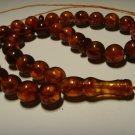 Genuine Baltic AMBER pressed Islamic 33 Prayer beads Tasbih Misbaha 27,42grB-581