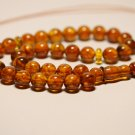 Islamic 33 prayer beads Natural baltic Pressed Amber Tasbih Misbaha 29.09grB-818