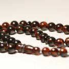 Islamic 33 prayer beads Natural baltic Pressed Amber Tasbih Misbaha 29.34grB-654