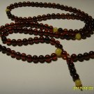 Buddhist Mala 108 Prayer Round Beads Genuine Baltic Amber  8.69gr A-384
