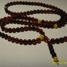 Buddhist Mala 108 Prayer Round Beads Genuine Baltic Amber  8.69gr A-384