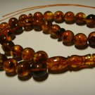Islamic 33 Prayer Beads Real Genuine Baltic pressed  Amber Tasbih 27,57gr B-584