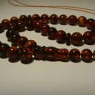 Natural Baltic AMBER pressed Islamic 33 Prayer beads Tasbih Misbaha 28.70grB 829