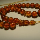 Genuine Baltic AMBER pressed Islamic 33 Prayer beads Tasbih Misbaha 26,71grB-706