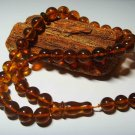 Islamic 33 Prayer beads Natural baltic Amber pressed Tasbih Misbaha 29,03grB-451