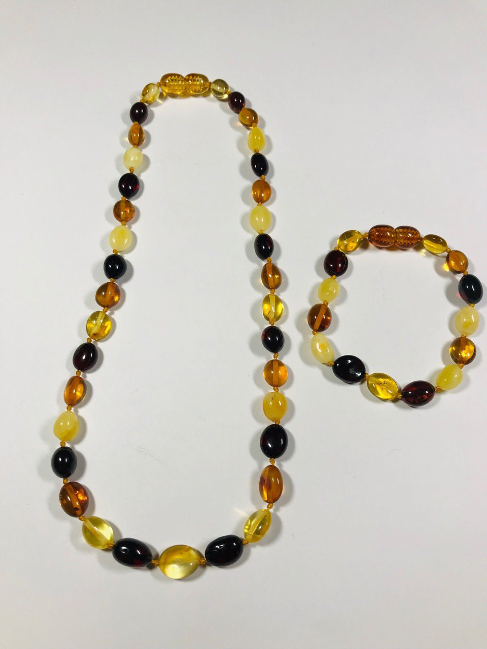 Amber set necklace and bracelet for kids for baby Natural baltic Amber set