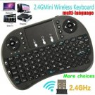 Mini Qwerty Keyboard Mouse Touchpad Keyboard with Receiver for PC Smart TV PS4 HTPC