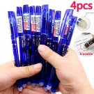 4 Pcs Erasable Gel Ink Blue Red Red Blue Dark Blue and Black Ink Magic writing Neutral Pen