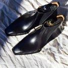 Handmade Mens Black Square toe Leather Chelsea boots, Leather Chelsea boots mens