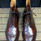 Handmade Mens Wing tip brogue Dark brown ankle dress boot, Ankle boot for mens